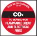 Extinguisher Label - C02