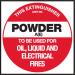 Extinguisher Label - Powder A (E)