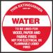 Extinguisher Label - Water
