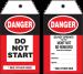 Danger Do Not Start Safety Tag