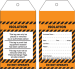 Isolation Safety Tag